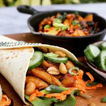 Chicken teriyaki wraps