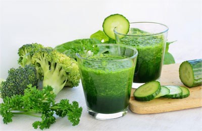 Broccoli sinaasappel smoothie